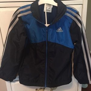 Adidas boys light weight blue jacket and pants 2T